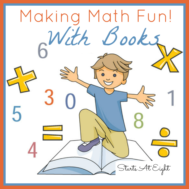 Making Math Fun!  With Books from Starts At Eight