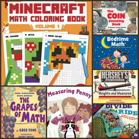 Math Books Collage