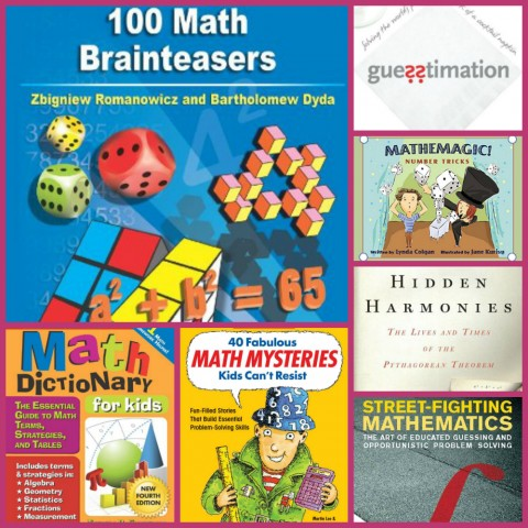 Middle and High School Math Books Collage