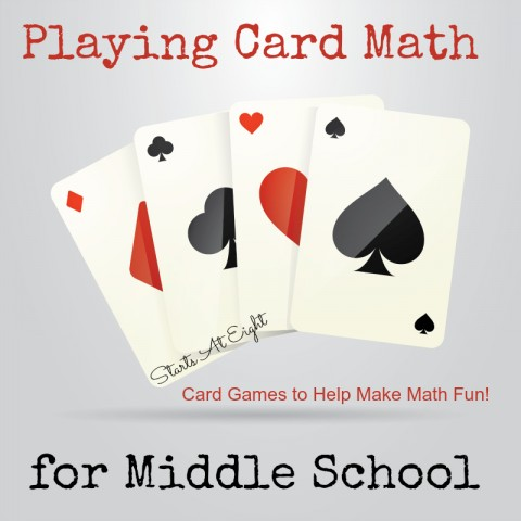 Playing Card Math for Middle School - Games to Make Math Fun! from Starts At Eight