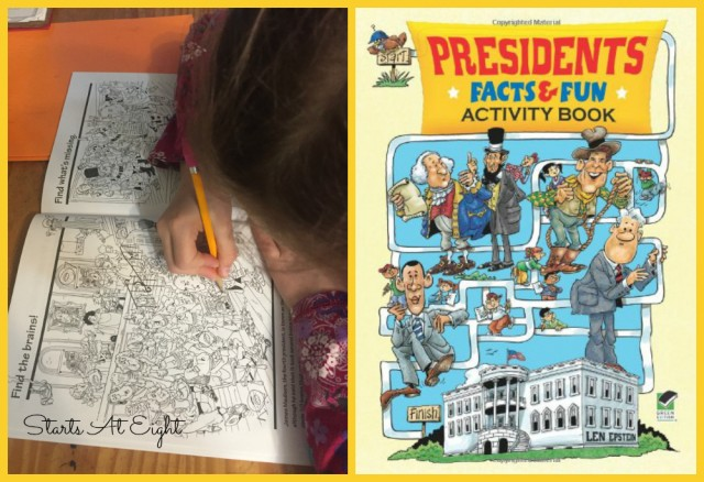 Presidents Facts & Fun Activity Book