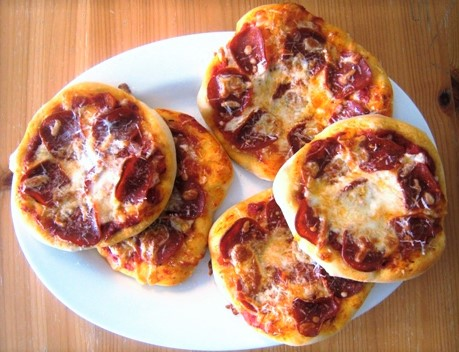 Breakfast Mini Pizzas