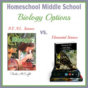 Homeschool Middle School Biology Options: R.E.A.L. Science vs. Elemental Science from Starts At Eight
