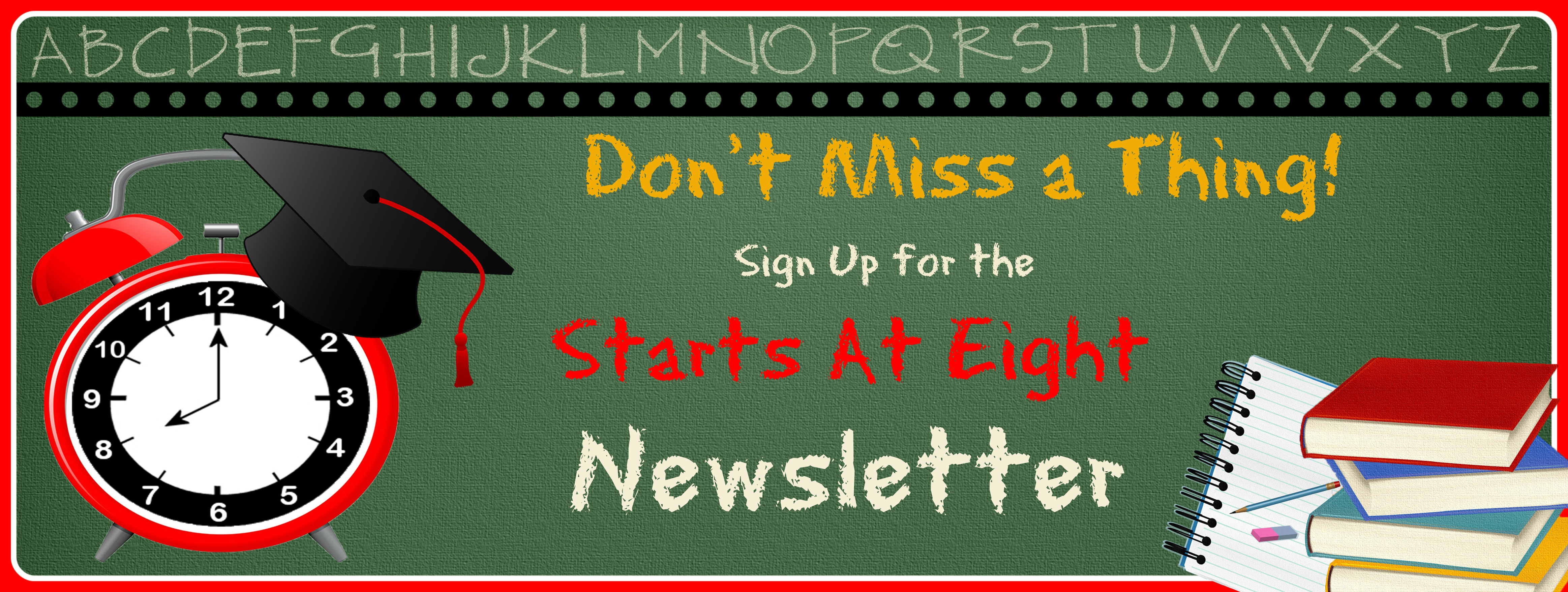 Starts At Eight Newsletter Sign Up