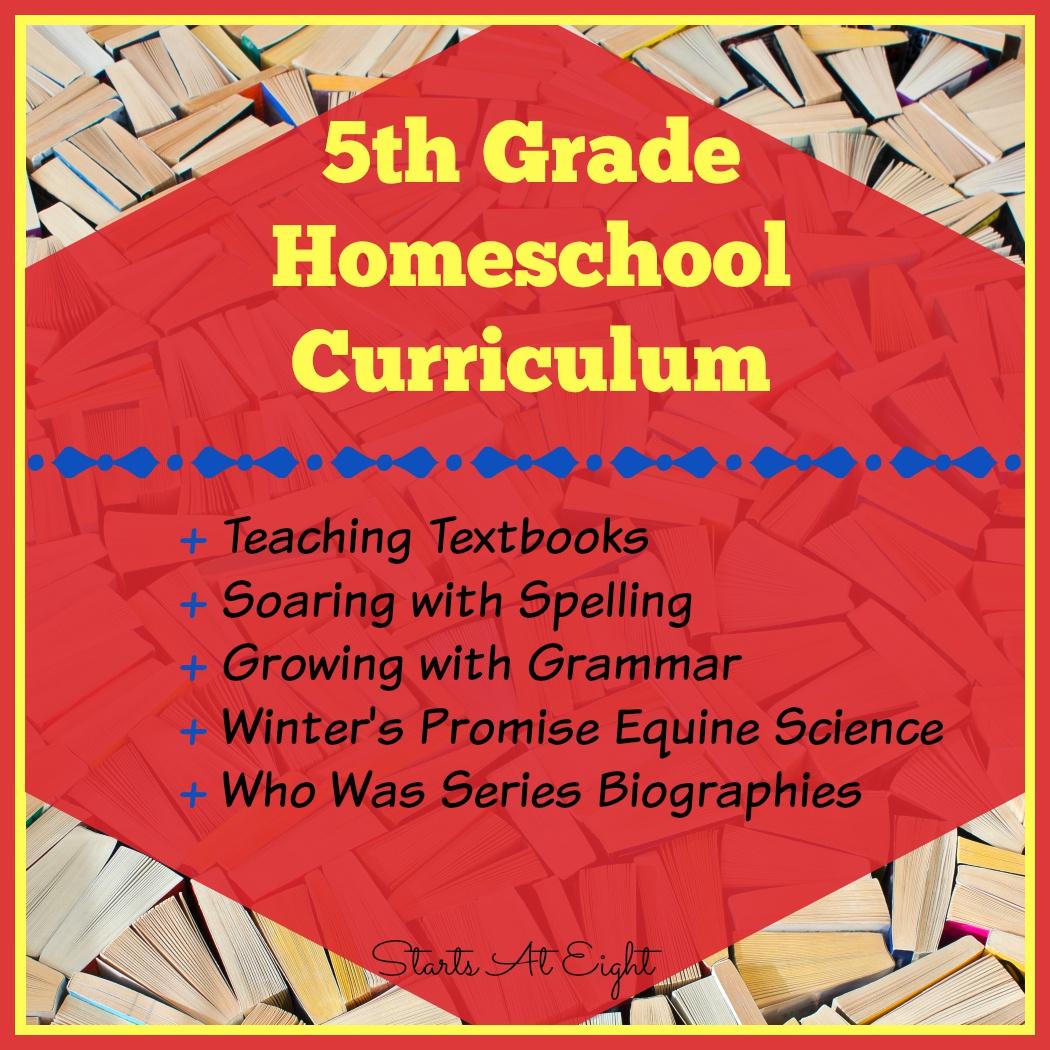 5th Grade Homeschool Curriculum