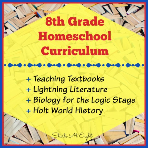 8th Grade (Middle School) Homeschool Curriculum