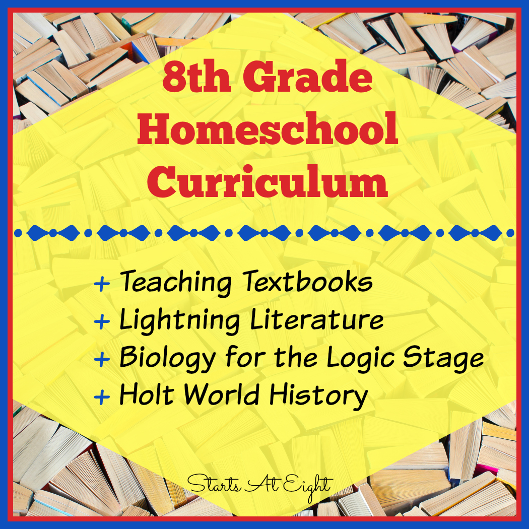 8th Grade Homeschool Curriculum from Starts At Eight