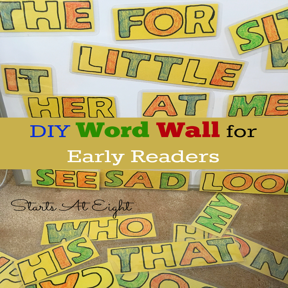 DIY Word Wall for Early Readers - StartsAtEight