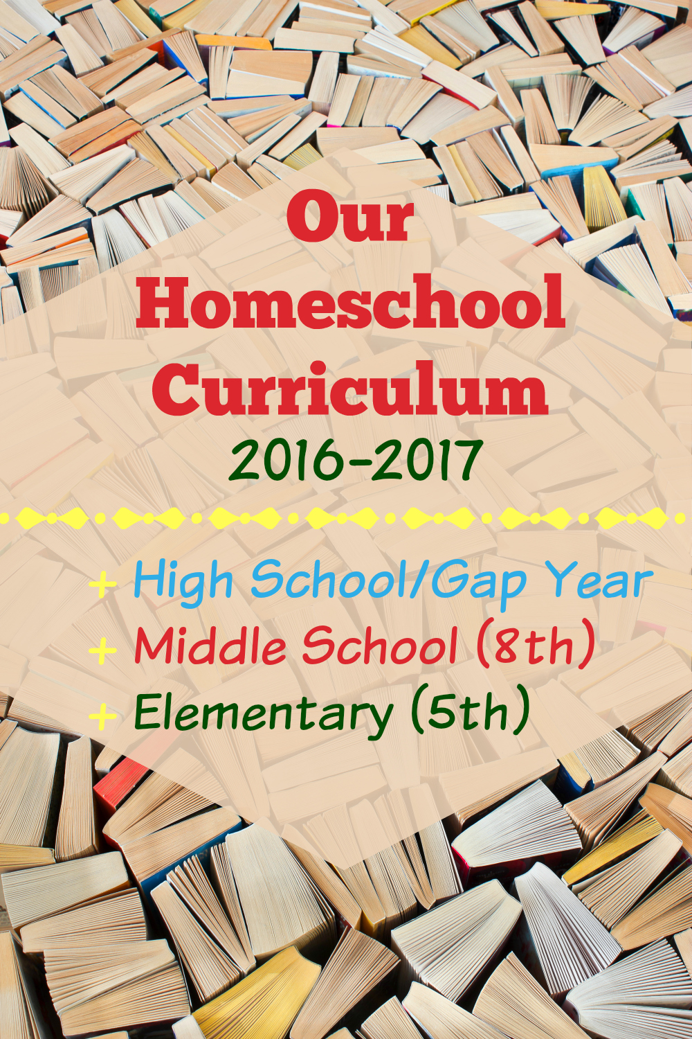 Our Homeschool Curriculum 2016-2017 from Starts At Eight