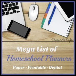 Mega List of Homeschool Planners