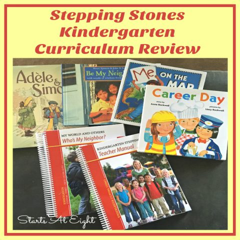 Stepping Stones Kindergarten Curriculum Review from Starts At Eight