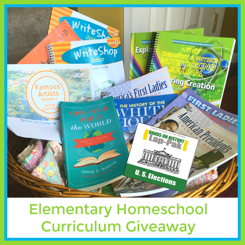 Elementary Homeschool Curriculum Giveaway from Starts At Eight