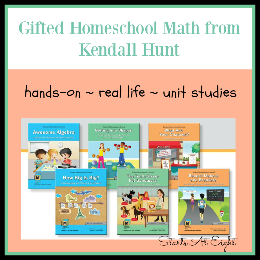 Gifted Homeschool Math from Kendall Hunt