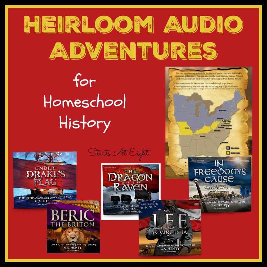 Heirloom Audio Adventures for Homeschool History from Starts At Eight