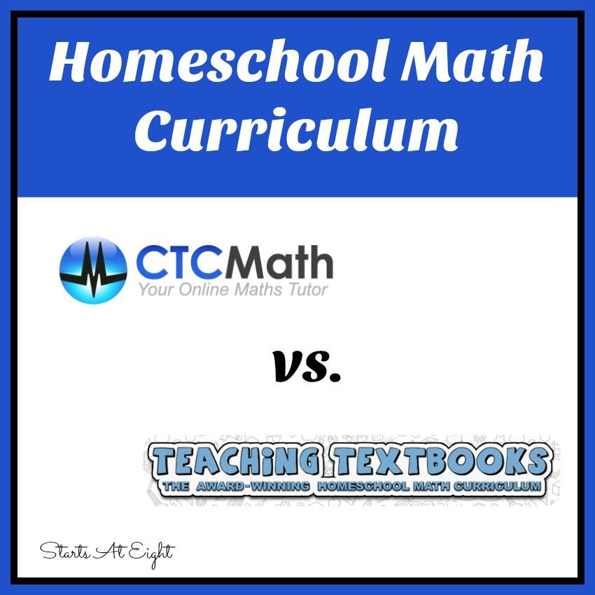 Homeschool Math Curriculum: Teaching Textbooks vs. CTC Math
