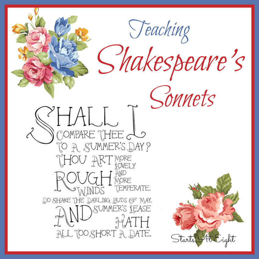 Teaching Shakespeare Sonnets from Starts At Eight