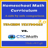 Homeschool Math Curriculum: Teaching Textbooks 3.0 vs. CTC Math