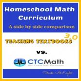 Homeschool Math Curriculum: Teaching Textbooks 3.0 vs. CTC Math