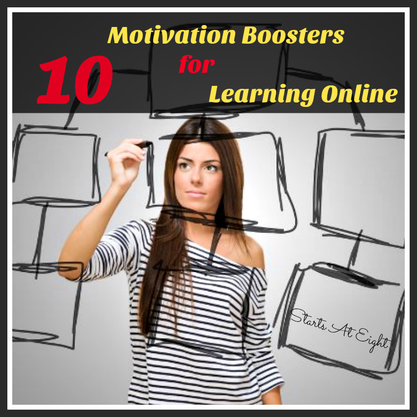 10 Motivation Boosters for Learning Online from Starts At Eight