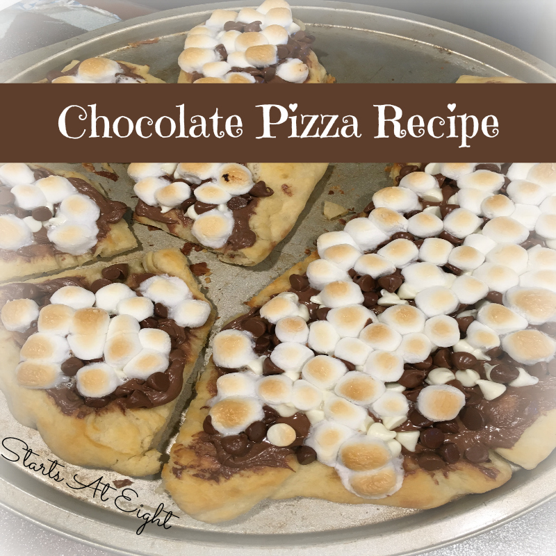 Chocolate Pizza Recipe from Starts At Eight