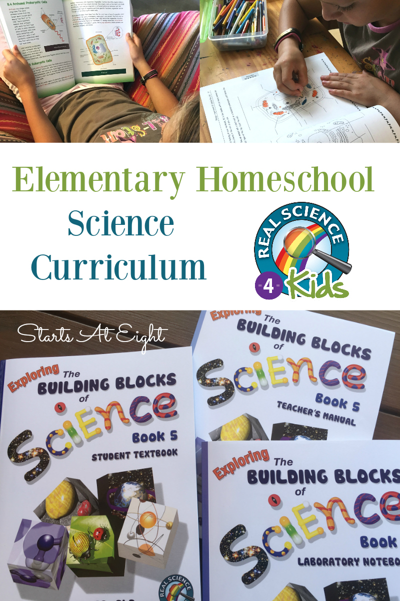 Elementary Homeschool Science Curriculum - Real Science-4-Kids from Starts At Eight