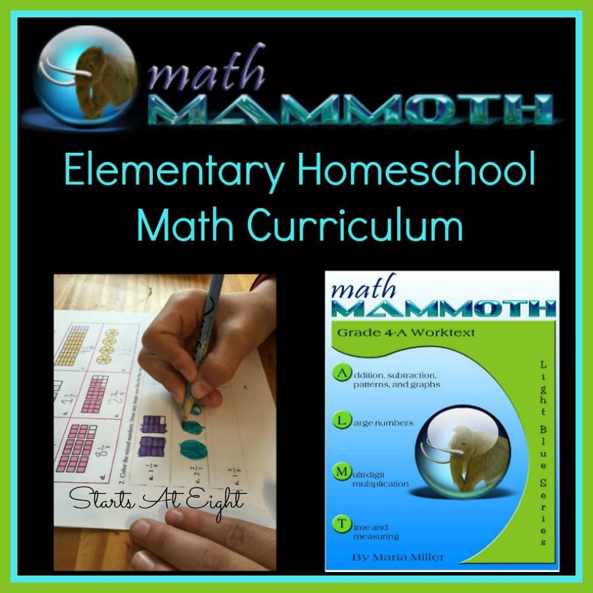 Math Mammoth Elementary Homeschool Math Curriculum