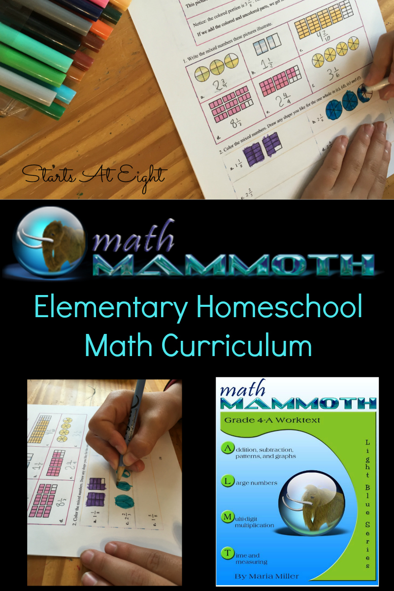 Math Mammoth Elementary Homeschool Math Curriculum from Starts At Eight