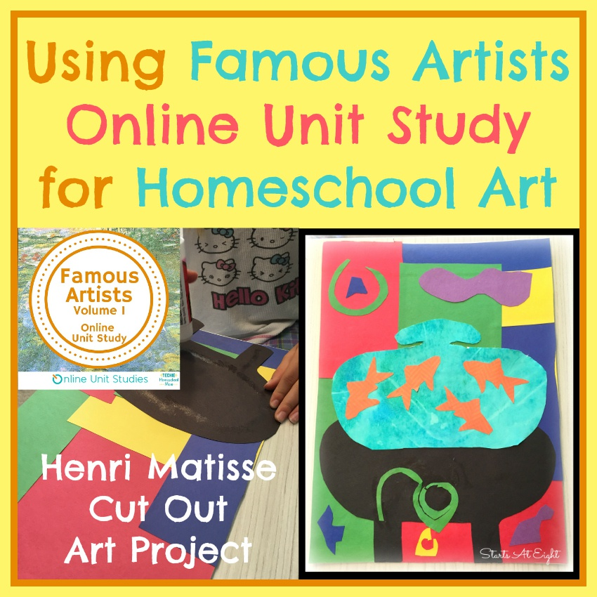 Using Famous Artists Online Unit Study for Homeschool Art