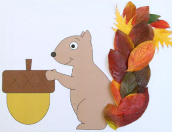 Leaf Squirrel Paper Craft