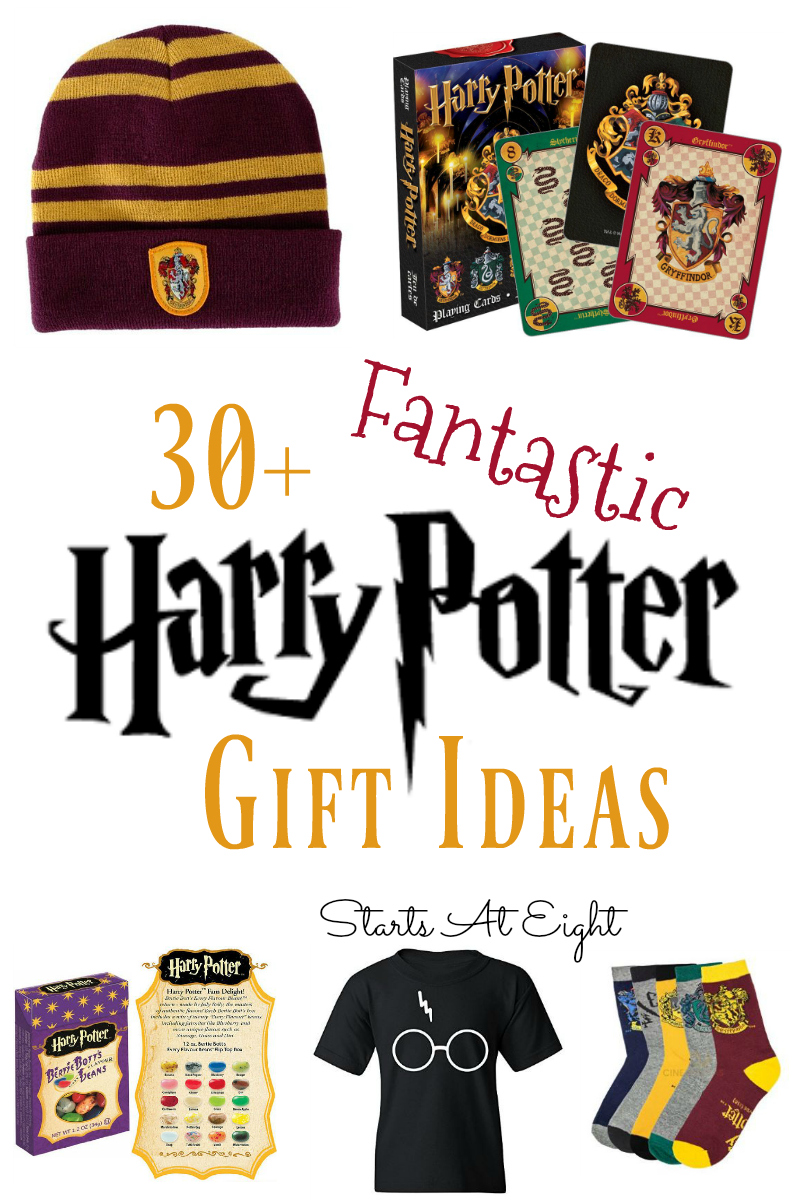 30+ Fantastic Harry Potter Gift Ideas from Starts At Eight. Harry Potter fan in your house? Then these 30+ Fantastic Harry Potter Gift Ideas will be sure to delight! Novelties, candy, clothing, games and more!