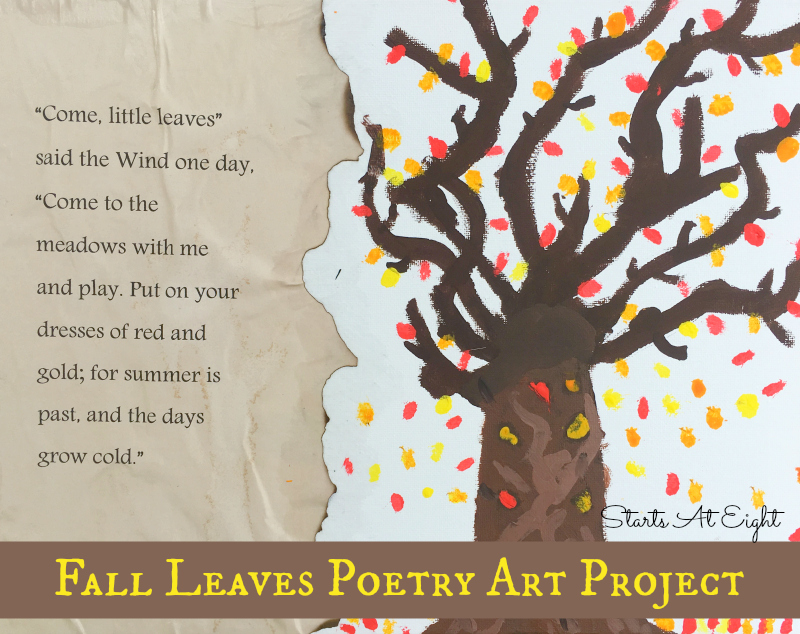 Fall Leaves Poetry Art Project from Starts At Eight