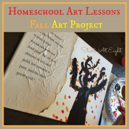 Homeschool Art Lessons ~ Fall Art Project