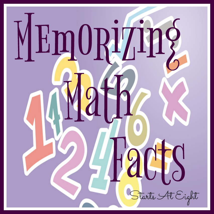 Memorizing Math Facts – A List & Resources