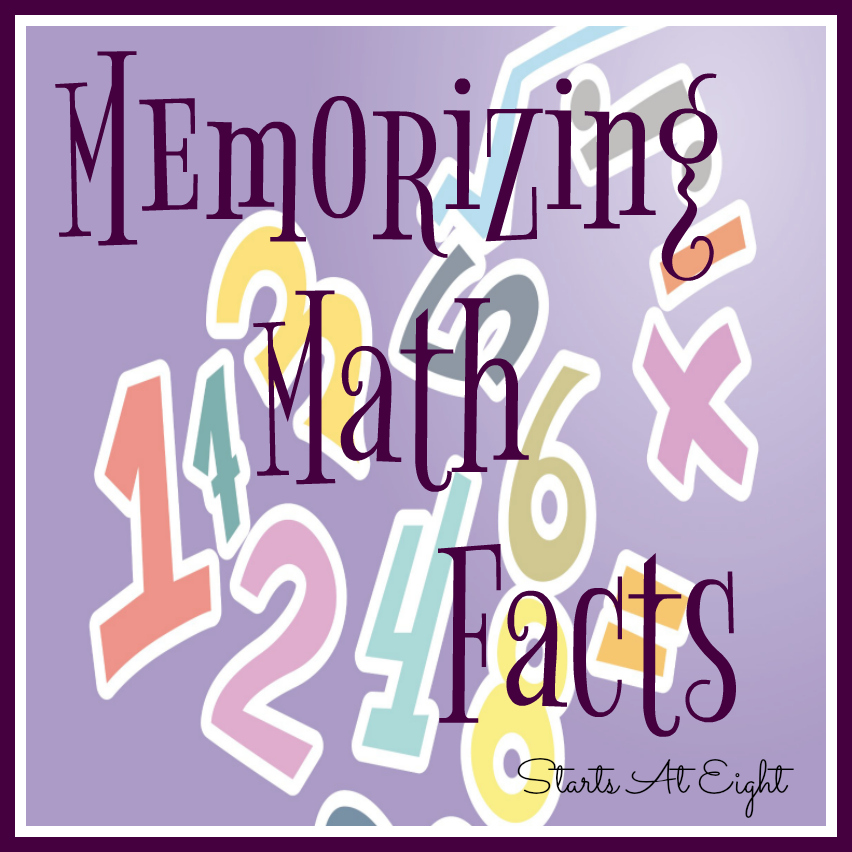 Memorizing Math Facts - A List & Resources - StartsAtEight