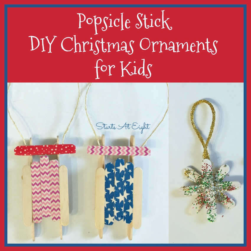 Popsicle Stick DIY Christmas Ornaments for Kids