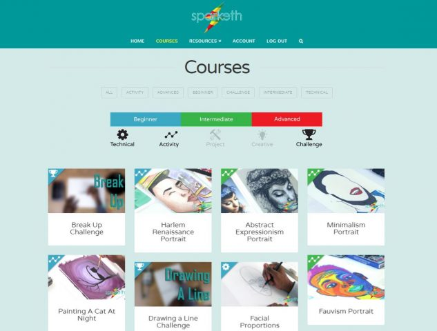 Sparketh Art Courses