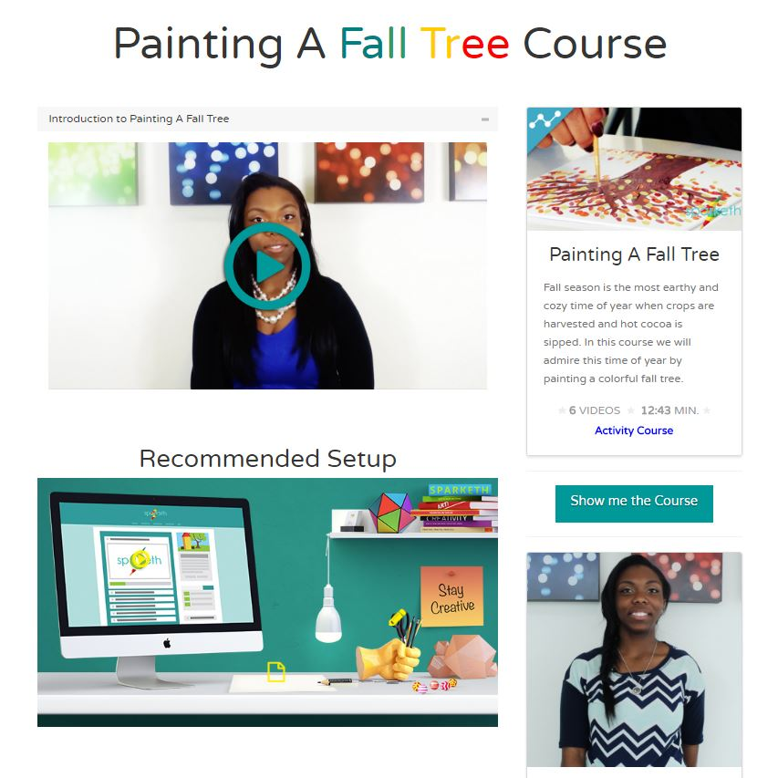 Sparketh - Painting a Fall Tree Course