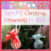Yarn DIY Christmas Ornaments for Kids