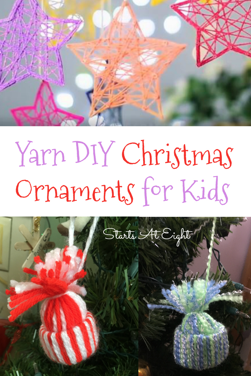yarn diy christmas ornaments for kids from starts at eight stock up on various colors - Kids Christmas Ornaments