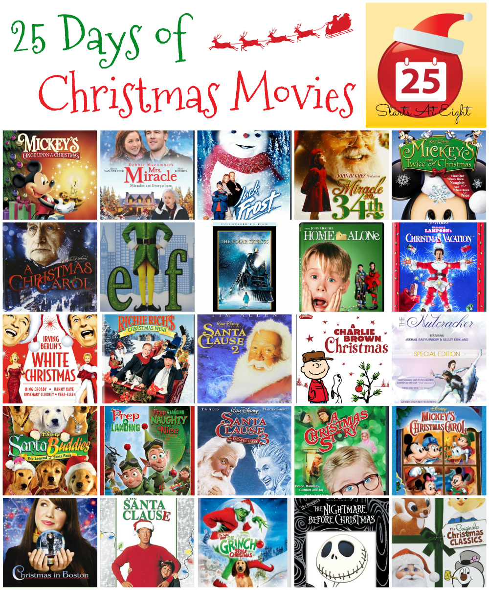 25 Days of Christmas Movies with Free Printable List ...