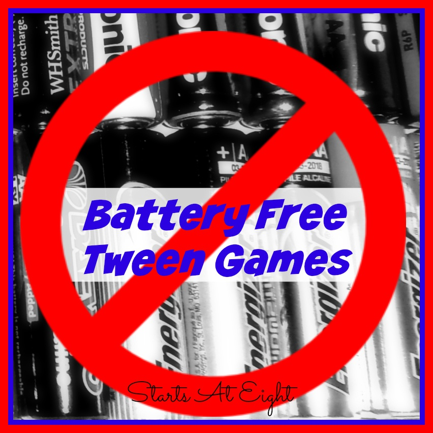 Battery Free Tween Games ~ Get Them Out of Their Phones and Into the Fun!