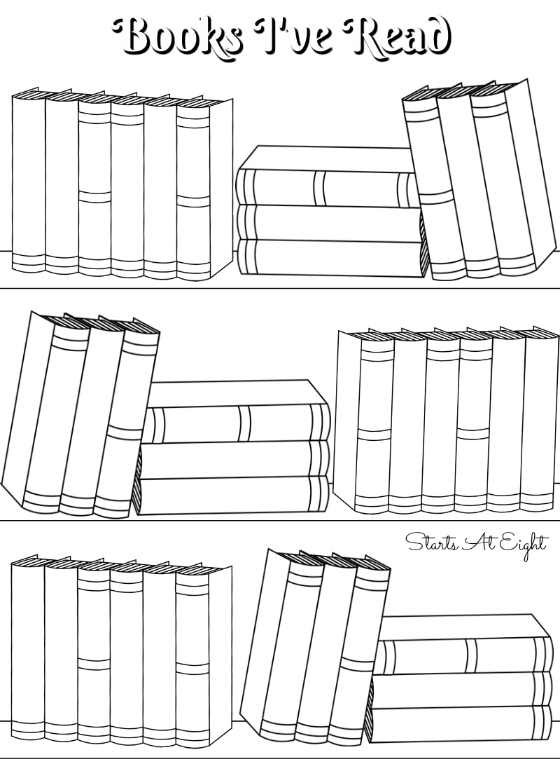 FREE Printable Books Ive Read Log From Starts At Eight Reading