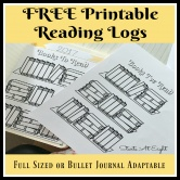 FREE Printable Reading Logs ~ Full Sized or Adjustable for Your Bullet Journal