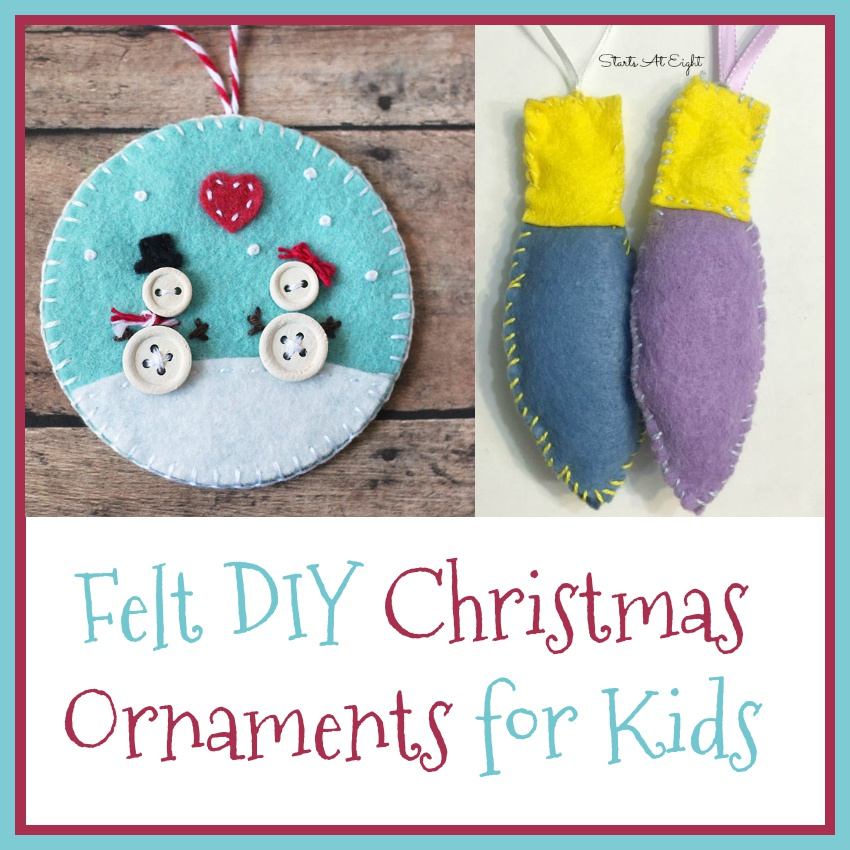 Felt DIY Christmas Ornaments for Kids