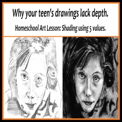 Homeschool Art Lesson: Shading Using 5 Values