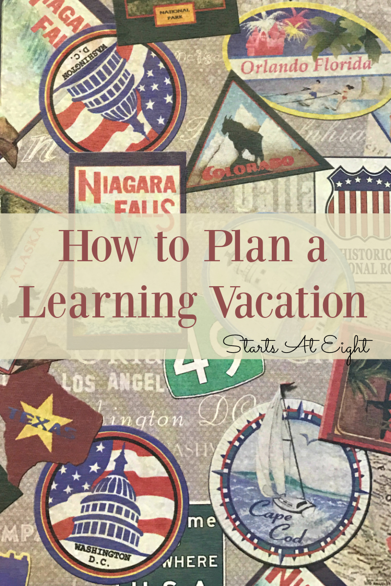 How to Plan a Learning Vacation from Starts At Eight. Includes tons of tips and resources for planning a learning vacation from hotels, to food, and mapping an itinerary, planning your trip will be easy!