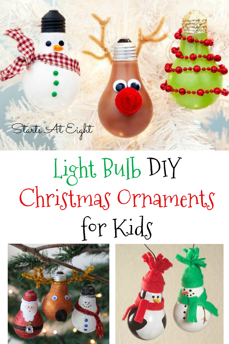 light bulb diy christmas ornaments