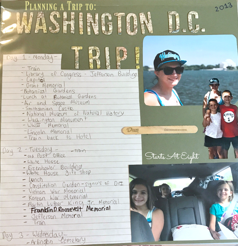 Planning a Trip to Washington D.C. from Starts At Eight