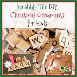 Scrabble Tile DIY Christmas Ornaments for Kids