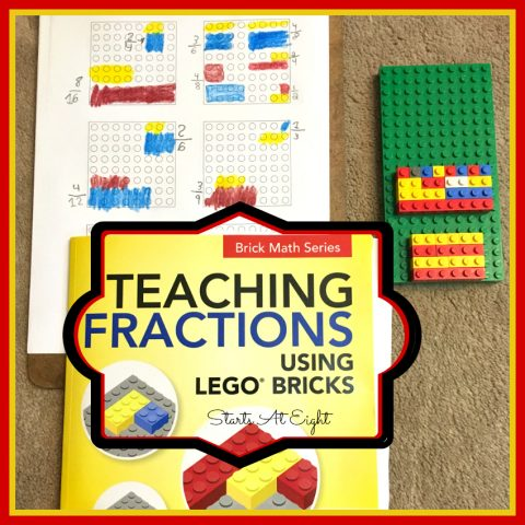 Teaching Fractions Using Legos from Starts At Eight. Teaching Fractions Using Legos is a great way to offer hands-on experience with manipulating fractions. So grab your Lego bricks and get start the math fun!